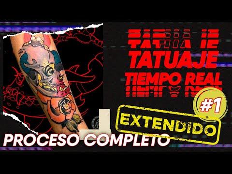 Tatuaje En TIEMPO REAL.  Sin Timelapse