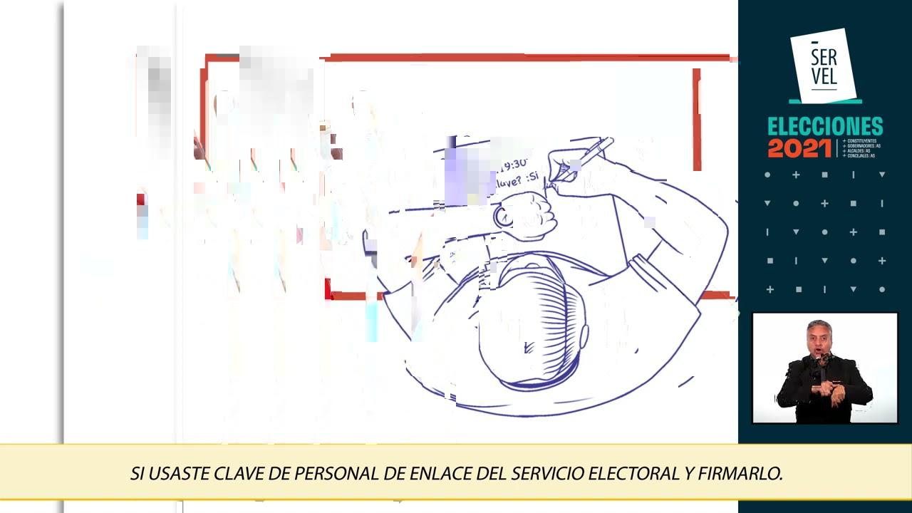 Personal de Enlace de Servel, video 02.  (lengua de señas)