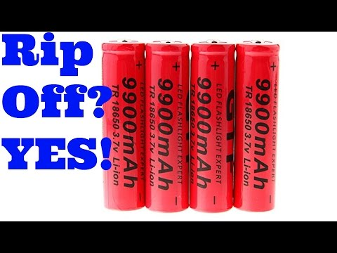 18650 9900 mAh Chinese Cells/Batteries Thorough Review Yes, They Are A Rip Off
