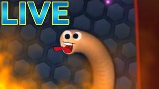 Jumbo Slither.io LiveStream - BIGGEST SLITHERIO SNAKE !!