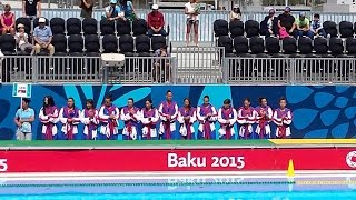 Serbia vs France Women Water Polo, Baku 2015