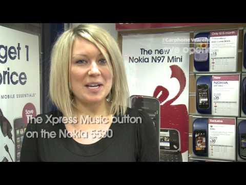 The Xpress Music button on the Nokia 5530 Iluvial