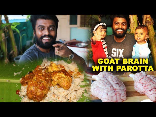 EXTREME!! FULL GOAT BRAIN SALNA & PAROTTA - Street Foods of Thoothukudi at Home 🏠