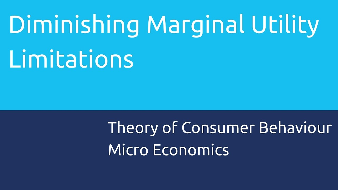 Limitations of the law of DMU   Theory of Consumer Behaviour   CA CPT   CS  & CMA Foundation - YouTube