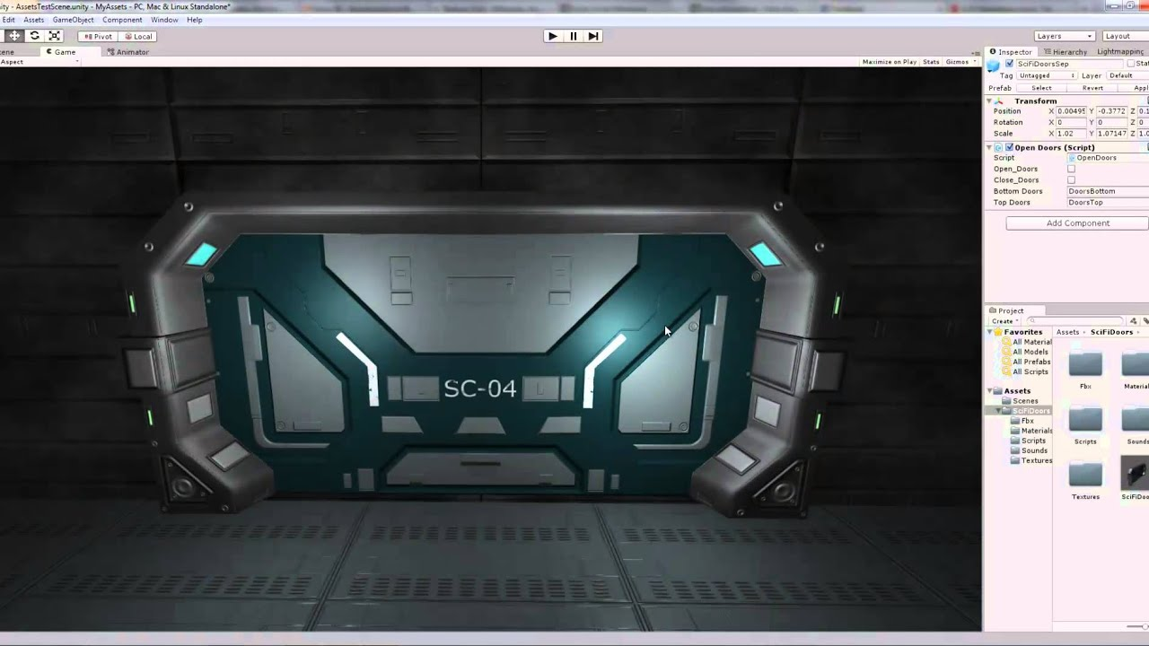 & Futuristic Sci Fi Doors Exported From Blender To Unity 3d HD - YouTube