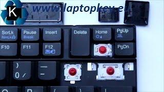 Como Colocar Reparar Mantenimiento Tecla de Teclado LENOVO Thinkpad T410 T520 W510 W520 X220