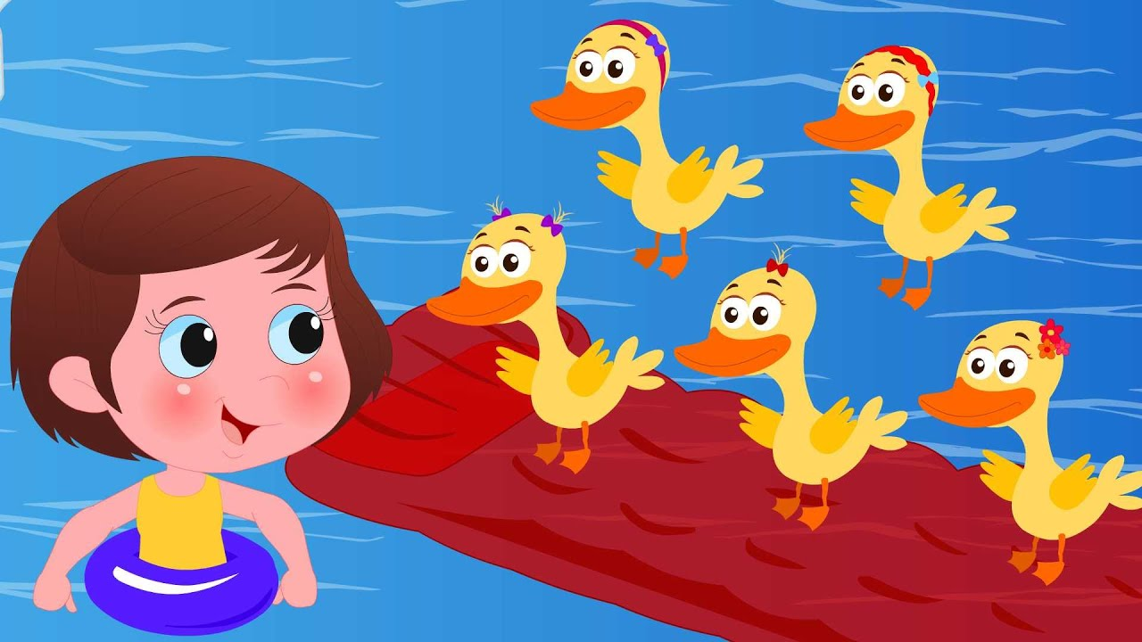 Five little Ducklings | Kids Tv Nursery Rhymes For Children | Cartoon Videos For Toddlers |
