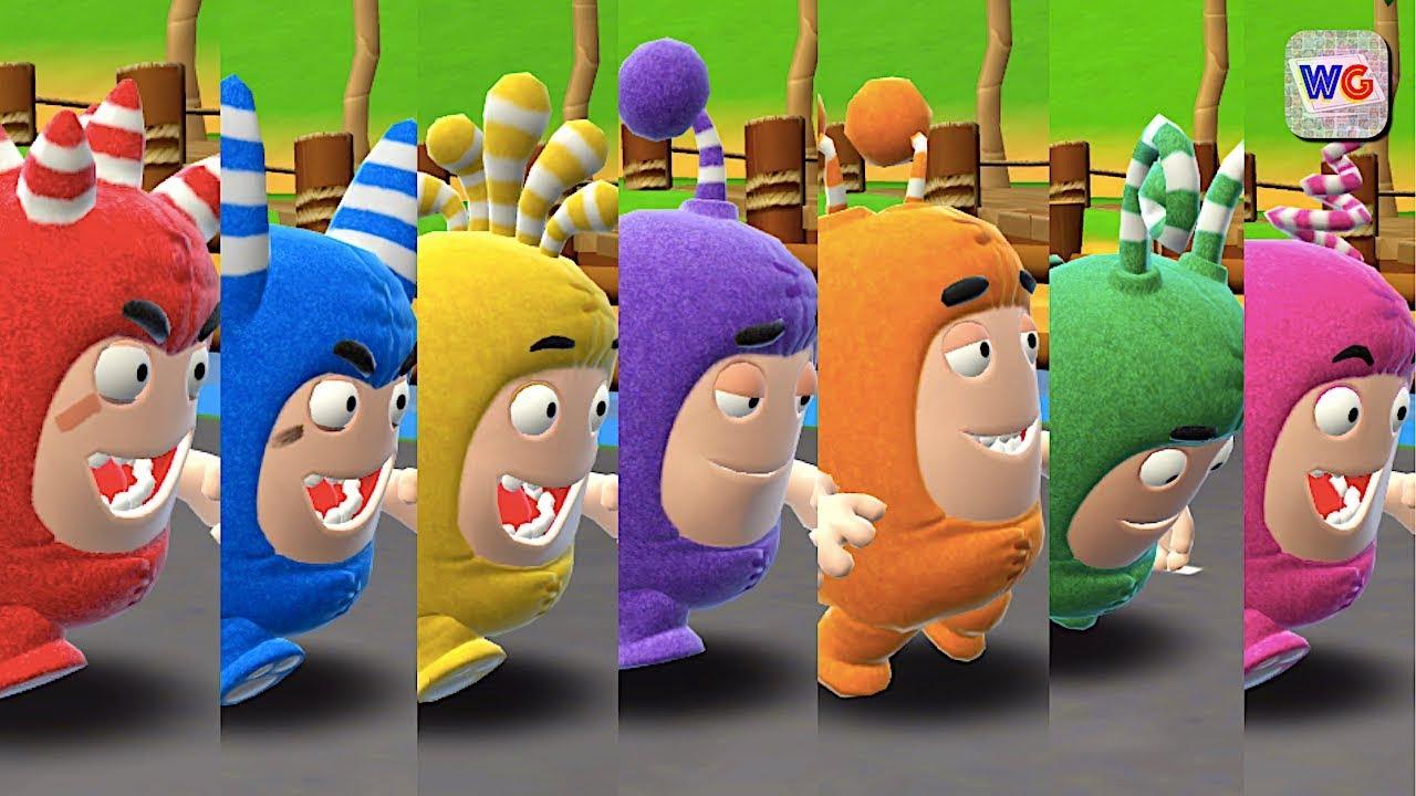 Oddbods Turbo Run - Fuse, Pogo, Bubbles, Jeff, Newt, Zee ...