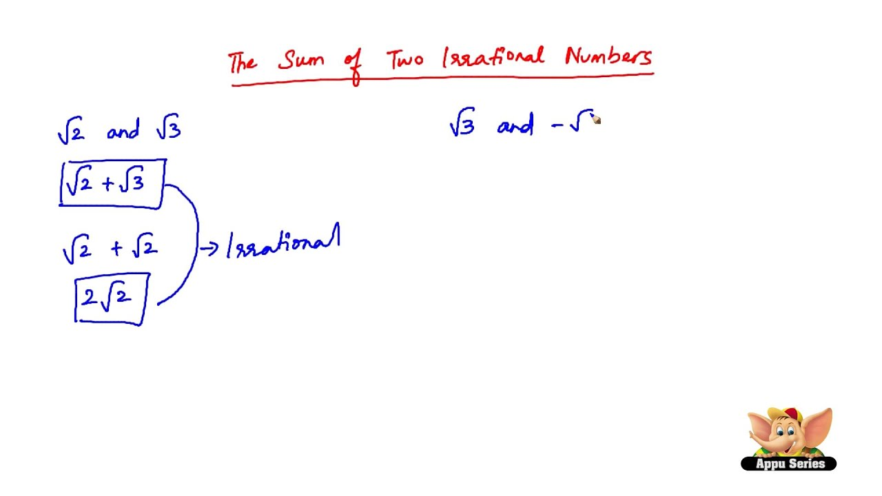 How To Add Two Irrational Numbers Youtube