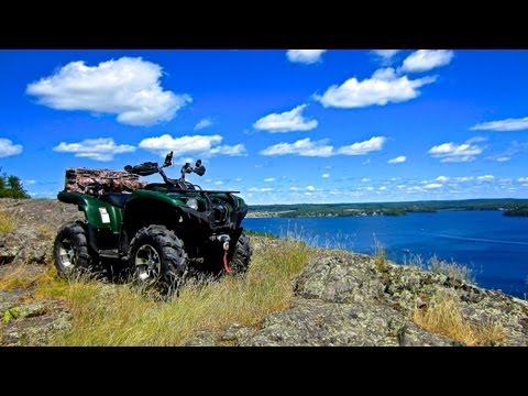Yamaha Grizzly Gets More Than It Bargained For Climbing Up Sioux Mountain