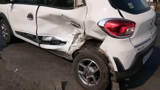 Renault Kwid crash with Swift Dzire // Renault vs Maruti Build Quality