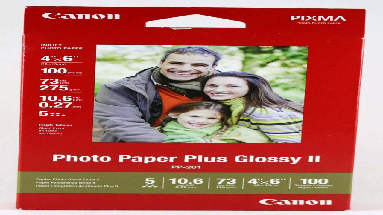 Canon Photo Paper Plus Glossy Ii 4 X 6 Inches 100 Sheets 2311b023