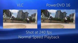PowerDVD - Slow Motion Playback Comparison | CyberLink