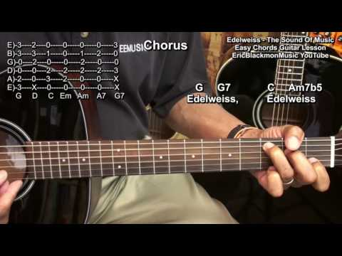 EDELWEISS The Sound Of Music Rodgers & Hammerstein Guitar Lesson EricBlackmonGuitar HD