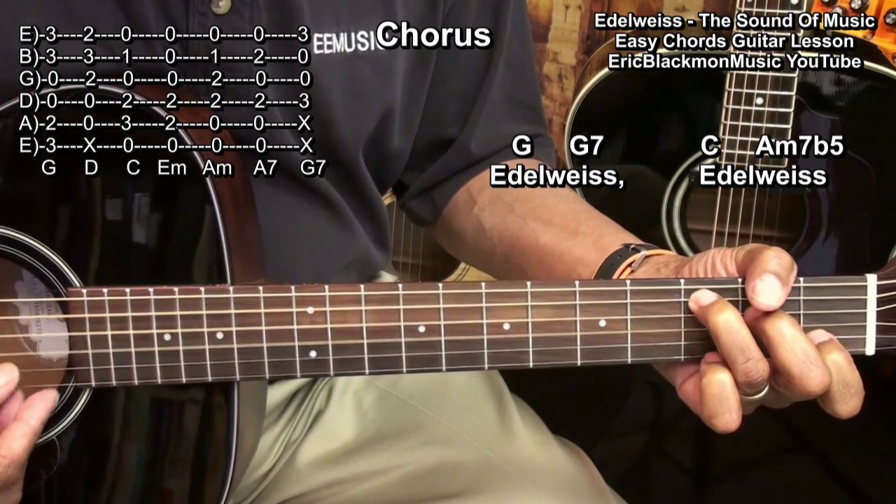 Edelweiss The Sound Of Music Rodgers Hammerstein Guitar Lesson