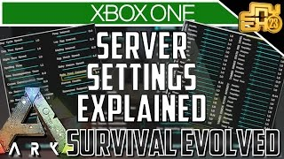 ARK XB1 - UPDATE v732 SERVER SETTINGS EXPLAINED (ARK XBOX ONE SETTINGS)