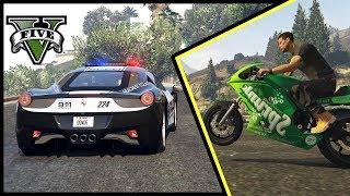 ZBANOWANY NA ODCINKU! FERRARI VS POLICJA - FiveM czyli GTA Online - Hogaty i Sylo #08