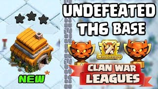 NEW TH6 WAR BASE 2018 Anti 3 STAR | Town Hall 6 (TH6) Clan war League BASE CLASH OF CLANS update
