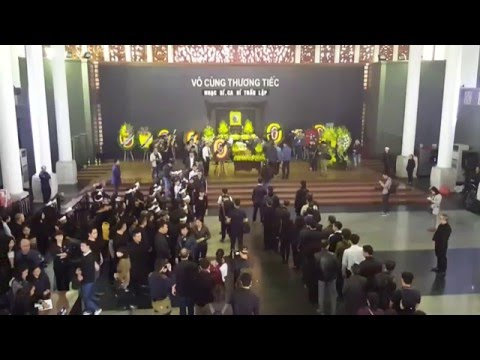 Video trực tiếp đám tang Trần Lập