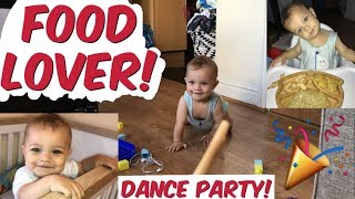 TAYLOR SWIFT DANCE PARTY! + CHEEKY BABY OBSESSED WITH BREADSTICK - MarisJournal Daily Vlog