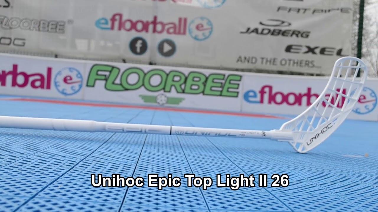 Unihoc EPIC Top Light II 26 white/silver Floorball stick