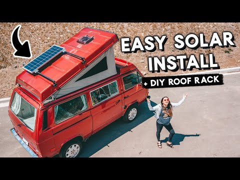 SOLAR Panel Setup for WESTFALIA VANAGON |  + DIY Roof Rack! Off Grid Power