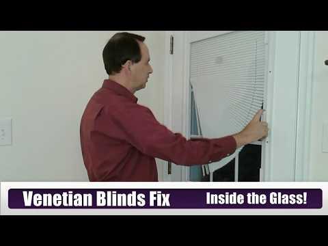 "Can You Fix Venetian Blinds ""Inside the Glass""?  Entry Door Window Repair"