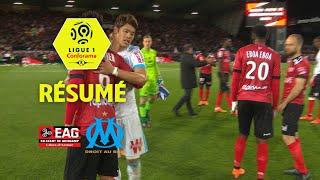EA Guingamp - Olympique de Marseille ( 3-3 ) - Résumé - (EAG - OM) / 2017-18
