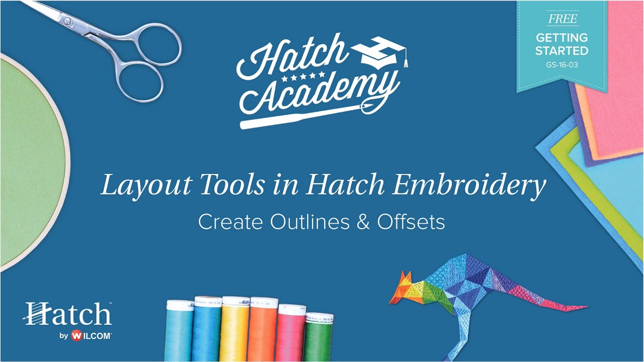 Hatch Embroidery Part 29 - Create Outlines and Offsets
