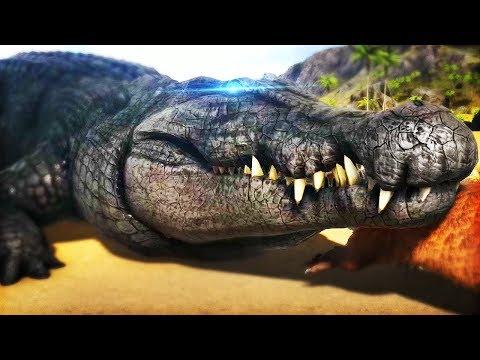 DEINOSUCHUS! AWESOME NEW CROCODILE, ADORABLE OTTERS | Ark: Survival Evolved Modded - Deinosuchus!