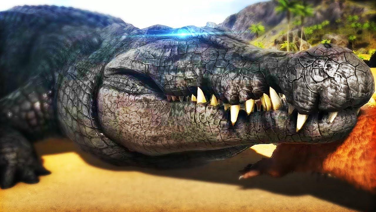 DEINOSUCHUS AWESOME NEW CROCODILE ADORABLE OTTERS Ark Survival Evolved Modded Deinosuchus