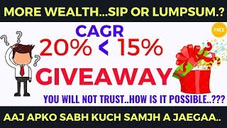 SIP OR LUMPSUM | WHO CREATE MORE WEALTH | Truth behind mutual fund return | Hindi