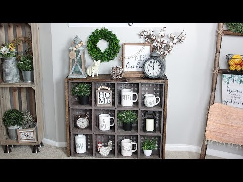 INCREDIBLE DOLLAR TREE CUBE ORGANIZER HACK FARMHOUSE DIY