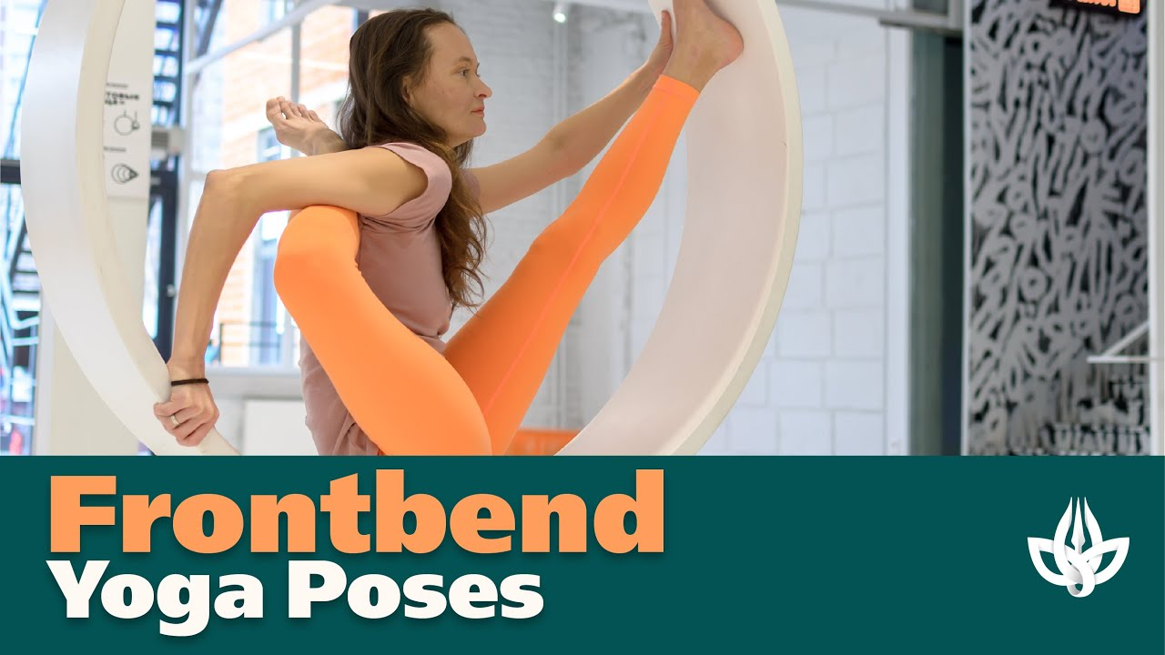 Frontbend and Gymnastics Performance. Flexible yoga.