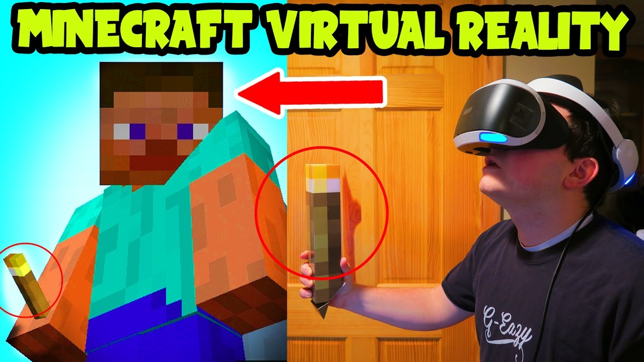 Minecraft PS10 VR Gameplay // Minecraft VIRTUAL REALITY Gameplay (Minecraft  PSVR Gameplay)