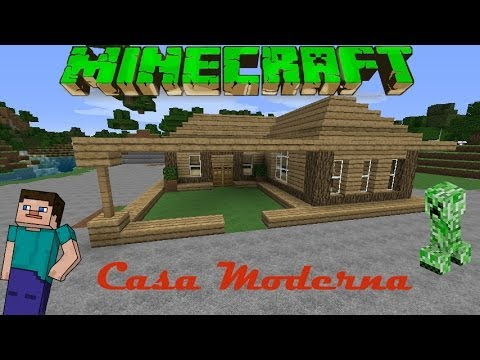 Minecraft casa moderna de madera facil tutorial 1 for Tutorial casa moderna grande minecraft