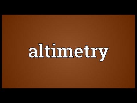 Header of altimetry