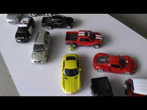 Marble run race with diecast cars and trucks ASMR