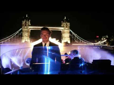 In 2012 Beckham drove Olympic torch on River Thames
