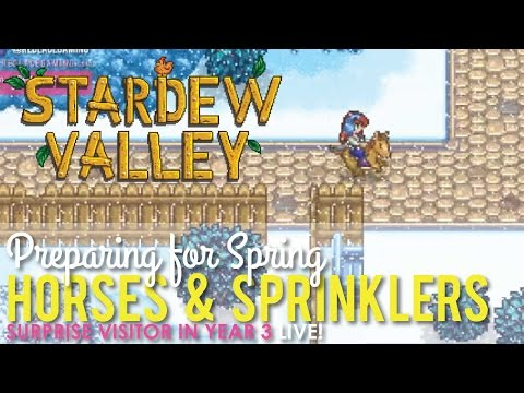 Preparing for Spring Year 3 in Stardew Valley - LIVE!