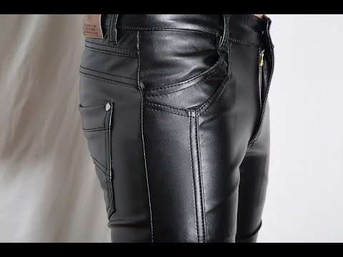 e742dd6eaf7938 Black Leather Pants for Guys - YouTube