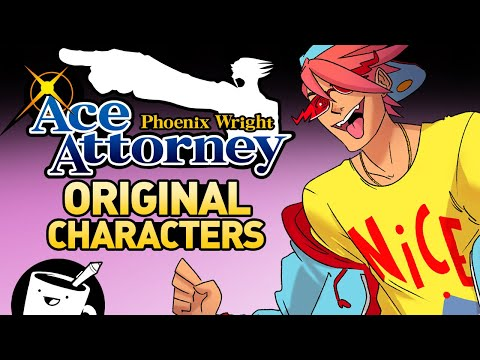 Drawing Phoenix Wright Original Characters