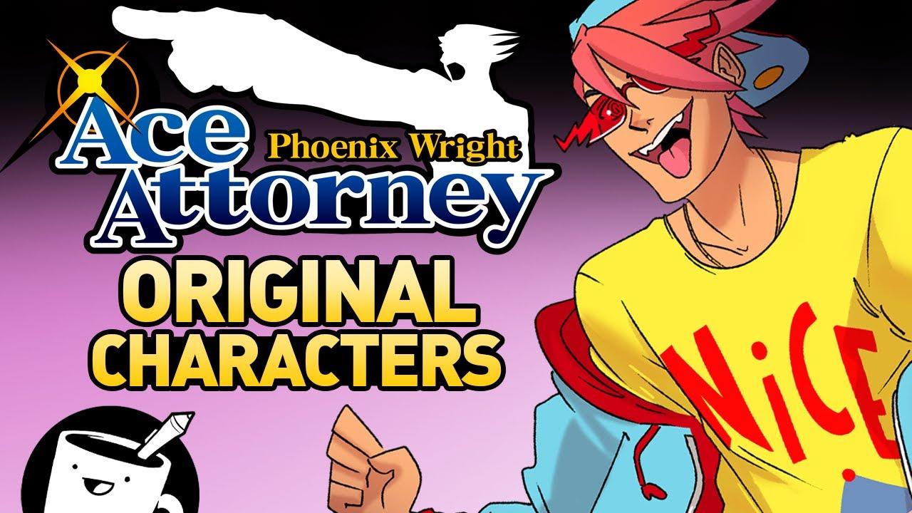 Drawing Phoenix Wright Original Characters Youtube