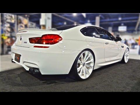 BMW M6 Gran Coupe >> BMW M6 white on white - Sema 13 - YouTube