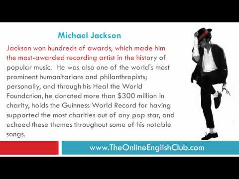 ESL Reading and Listening - Michael Jackson