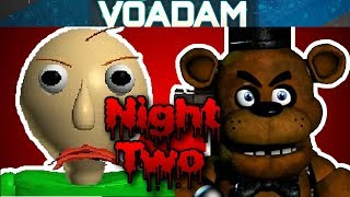 Baldi Plays Five Nights At Freddy's Part 2! (Baldi's Basics VS FNAF)