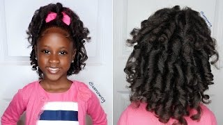 Overnight Heatless Curls Ft. Aunt Jackie's Girls   Kids Natural Hairstyle   IAMAWOG