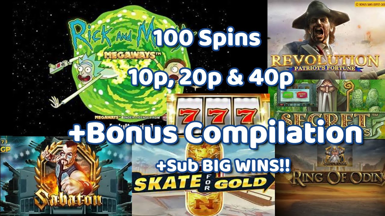 Rick & Morty 100 spins 10p, 20p & 40p + Bonus Compilation. Ring Of Odin, Primal+ Much more