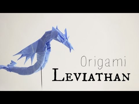 Origami Sea Dragon Leviathan 20 Tadashi Mori Youtube
