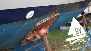 26. Boatyard Fail, Oil-Canned Hull, and Some Sanding! - Sailing Vessel Somnium